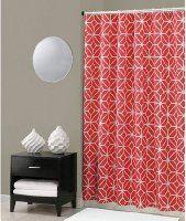 Trina Turk Trellis Coral Shower Curtain