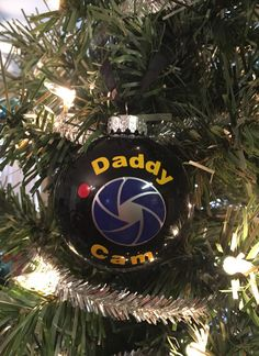 "Daddy Cam, Mommy Cam, 2.6"" Black Glass Daddy Cam, Deployment Survival, Military Family Christmas"
