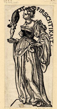 """""""Die Firsichtikait"""", Serie """"Die sieben Tugenden"""", c.1510, Hans Burgkmair der Ältere (1473-1531)"""