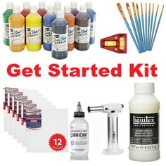 Get started acrylic pouring kit