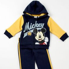 MICKEY MOUSE 2-Piece Jacket and Pants Set Winter Baby Boy, Baby Store, Baby Disney, Future Baby, Baby Boy Outfits, Adidas Jacket, Mickey Mouse, Baby Kids, Kids Fashion