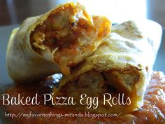 Baked Pizza Egg Rolls