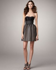 just bought this for my friend's wedding...Strapless Bustier Dress by Vera Wang Lavender at Neiman Marcus.