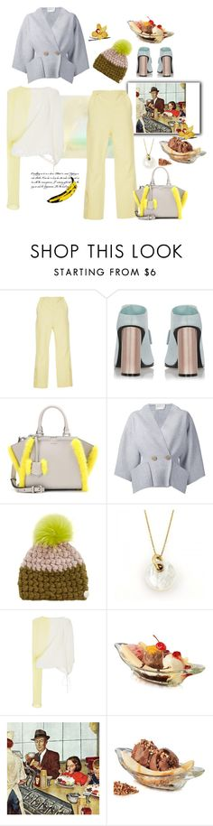 """""""Banana Split"""" by juliabachmann ❤ liked on Polyvore featuring Marni, Fendi, Maison Rabih Kayrouz, Mischa Lampert, Tiffany & Co., Andy Warhol and Marmont Hill"""