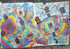 rike's art: Landkarten und Briefmarken