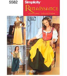 Simplicity Pattern 5582P5 12 14 16 1-Simplicit Renaissanc dress