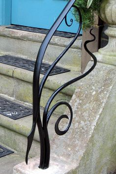 Elegant One Step Wrought Iron Hand Rail And Post My Cute