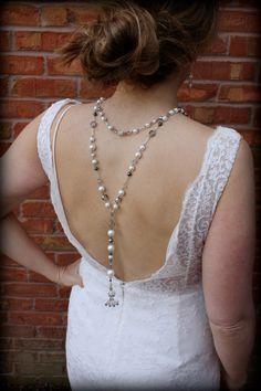 Backdrop NecklacePearl NecklaceBack Drop by dreamdaydesign on Etsy, $99.00