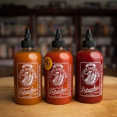 Now available! Kitchen Garden Farm's delicious, fermented, small batch, organic srirachas. Choose from spicy ghost pepper, zesty habanero, or the flavor-packed original. Grab some today at Doc Hotties! Bhut Jolokia, Hot Sauces, Ghost Peppers, Red Chili, Farm Gardens, Bottle Labels, Hot Sauce Bottles, Product Design, Spicy