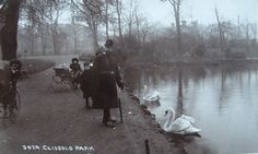 1912 - Clissold Park, Stoke Newington Vintage London, Old London, London History, North London, Childhood, Park, Outdoor, Animals, Infancy
