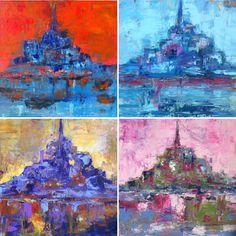 Mont Saint Michel by Isabelle Nativelle Acrylic on canvas , 40x40 cms each
