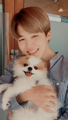 Find images and videos about cute, kpop and bts on We Heart It - the app to get lost in what you love. Jimin Jungkook, Bts Taehyung, Foto Bts, Mochi, Bts Dogs, Jimi Bts, Jimin Pictures, Park Jimin Cute, Jimin Wallpaper