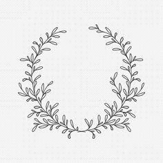 Flower Circle, Flower Svg, Flower Frame, Circle Monogram, Monogram Frame, Wreath Tattoo, Wreath Drawing, Floral Drawing, Laurel Wreath