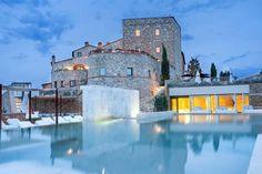 Castello di Velona Spa Resort & Winery in Montalcino, Toskana Hotels In Tuscany, Beste Hotels, Under The Tuscan Sun, Siena Italy, Hotel Spa, Resort Spa, Travel Tourism, Montalcino Italy, Japanese Bath