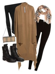 """""""Hijab outfit Fall/Winter"""" by mervette on Polyvore featuring River Island, WearAll, Rick Owens, Chanel and Burberry"""
