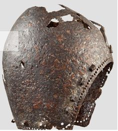 A German bascinet, circa 1370    Well-preserved find with major flaws on the crest and neck. Height 25.5 cm.  Extremely rare type of helmet of which only few exemplars have been preserved.  A very similar helmet from the collection of the German Historical Museum in Berlin (Inv. no. AB14310) can be seen in:   Müller, Heinrich, Europäische Helme, fig. 17.  Provenance: Austrian private collection, acquired in the 1970s