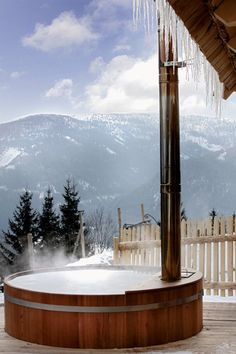 A steamy #hottub is the perfect choice on a cold day.