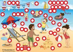 Interactieve praatplaat thema by juf Petra van kleuteridee, zomer by ThingLink, Preschool summer time