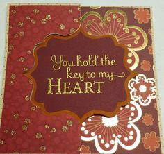 Sizzix card I made and then embossed.
