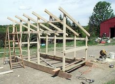 shed cost about $200 in new materials. already had the screws & hardware,purchased the plywood,lumber & roofing. project best done by 2 people It is sturdy in a storm. The sheds have no floors so they are lighter and easier to move. In the winter, the goats stay inside a lot and the hay builds up, making it warm & snug. The hardest part is removing the hay in the spring.  we periodically fork it out throughout the winter, shed has 3.5 walls