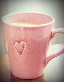 ~Pink heart coffee mug