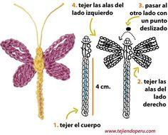 Libélula 1 http://www.tejiendoperu.com/crochet/lib%C3%A9lulas-en-crochet/