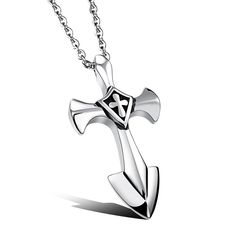 """OPK Jewelry Stainless Steel Anchor Necklace Punk Style Weapon Cool Necklace,19.6"""" -- Awesome products selected by Anna Churchill"""