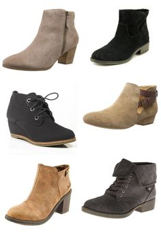 The temperatures are dipping and I've got ankle boots on my mind. Six of my current favorites (and what I'm NOT looking for) on the blog.