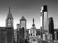 Philadelphia skyline| One Liberty Place | Two Liberty Place | Melon Bank Center | City