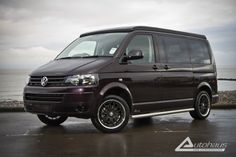A beautiful Black Berry VW T5 Camper Conversion produced by Autohaus