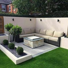 Backyard Seating, Backyard Patio Designs, Backyard Landscaping, Landscaping Ideas, Lounge Seating, Modern Backyard, Garden Seating, Terrace Garden, Lounge Areas