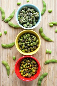 Flavored Roasted Edamame Three Ways! A healthy snack!