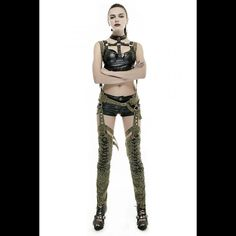 2016 Newest Design Punk Green Military Uniform Style Sexy Rivets Women Overalls Overalls Women, Man Style, Gothic, Pants For Women, Stockings, Punk, Military, Mens Fashion, Sexy