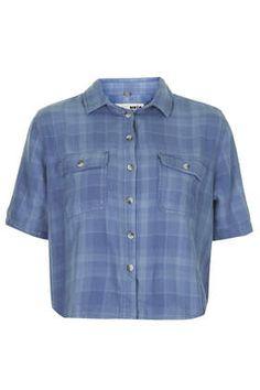 MOTO Crop Check Shirt