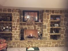 This is the fireplace I created for our new home.