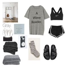 """""""GRAY."""" by gypsy-paradiso ❤ liked on Polyvore featuring Aerie, Givenchy, NIKE and Dogeared"""