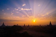 Best sunrise of our lives at Bagan -  Myanmar