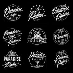 "graphicdesignblg: ""Paradise Palms by Georgia HIll """