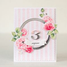 the silver frame is beautiful with the soft pink. try this with pit the sweet life.