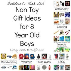 Every Star Is Different: Non Toy Gift Ideas for 8 Year Old Boys Birthday Gifts For Boys, Boy Birthday, Birthday Ideas, 9 Year Old Christmas Gifts, Christmas Ideas, Christmas 2019, Presents For Boys, Gifts For Kids, Kids Toys For Boys
