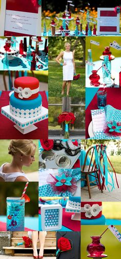 Red + Turquoise | Bride Meets Wedding