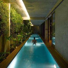 Amazing long and narrow indoor pool  @luxe.architecture  @luxe.architecture  @luxe.architecture