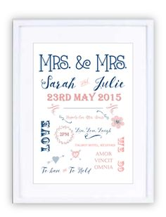 Wedding Style 3 Personalised Prints, New Beginnings, Wedding Styles, Framed Prints, In This Moment, Wedding Outfits
