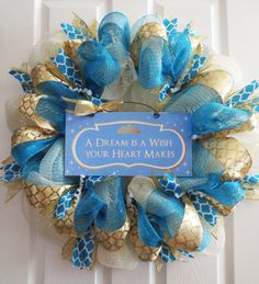 NEW Large Magical Disney Princess Themed Cinderella Mesh Ribbons Wreath created by TheOpenDoorWreaths