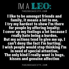 """""""I'm A Leo!""""….. Words from a Leo."""