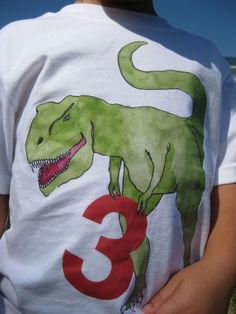 DINOSAUR Numbered birthday shirt by culpepergeneral on Etsy, $24.00