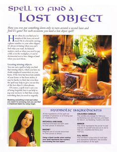 Mind, Body, Spirit Collection - Spells To Find A Lost Object