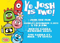 Yo Gabba Gabba invite idea