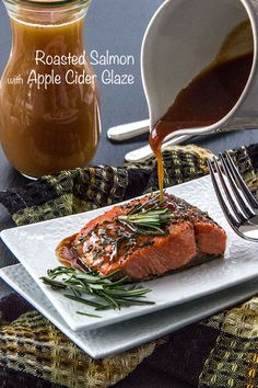 Roast-Salmon-with-Apple-Cider-Glaze ......chosen as one of The Produce Mom's 50 Favorite Apple Recipes!