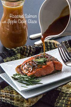 Roast Salmon with Apple Cider Glaze